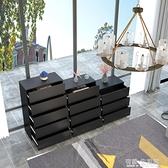 北歐現代簡約五斗櫃儲物櫃黑色三四斗櫥實木抽屜式收納櫃輕奢邊櫃AQ 有緣生活館