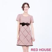 RED HOUSE-蕾赫斯-交叉亮片蝴蝶結洋裝(粉色)