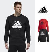【GT】Adidas 黑紅 大學T 衛衣 運動 休閒 棉質 長袖 上衣 愛迪達 基本款 新年圖騰 Logo