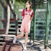 百搭牛仔背帶短褲女學生韓版bf寬鬆原宿2018新款顯瘦可愛學院風夏