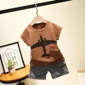 2018童裝夏季新款韓版男童夏裝短袖印花t恤圓領休閒短袖上衣 小巨蛋之家