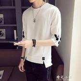 夏季男士短袖t恤韓版寬鬆5五分袖男生七分袖潮流衣服半袖體恤2018 晴光小語
