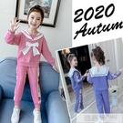 洋裝 女童套裝秋裝2020新款洋氣網紅童裝韓版小女孩春秋兒童運動兩件套 韓慕精品