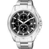 CITIZEN 星辰 OXY 光動能爭霸傳奇計時腕錶/手錶-黑/銀 CA0270-59F