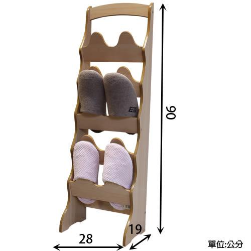 中華批發網:HD-610100-N 英式古典-拱形10入鞋插架-原木色