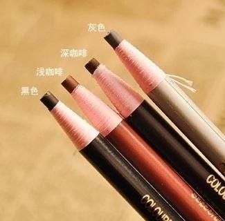時尚專業化妝師推薦影樓專用拉線眉筆防水不暈染眼線筆眼影筆 兩支