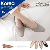 包鞋.素面小方頭低跟包鞋(杏、黑)-大尺碼-FM時尚美鞋-韓國精選.Popart