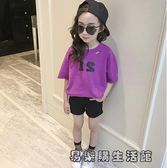 女童短袖t恤寬鬆純棉體恤衫 易樂購生活館