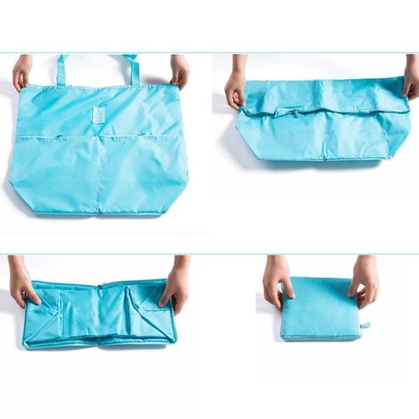 旅行手提袋韓版女包簡約百搭單肩包手提包大包包折疊便攜購物袋包
