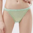 思薇爾-玫瑰花宴系列M-XL蕾絲低腰三角內褲(粉彩綠)