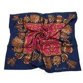 Christian Dior 華麗流蘇墜飾(大)領巾(深藍色) 179017