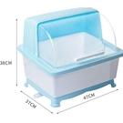 瀝水架 廚房碗筷收納盒防塵帶蓋碗柜放餐具家用多功能裝碗碟瀝水置物架子 快速出貨