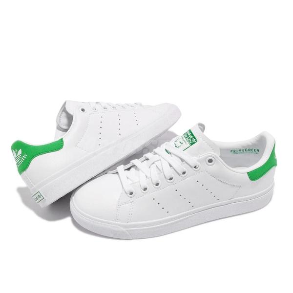 【海外限定】adidas 休閒鞋 Stan Smith VULC 白 綠 女鞋 環保材質 三葉草 愛迪達 【ACS】 FX8070