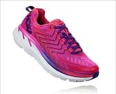 【線上體育】 HOKA ONE ONE 女 CLIFTON 4 路跑鞋 夜櫻紫/粉紅, 6.5