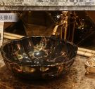 爆款陶瓷衛浴台上盆洗手盆洗臉盆台盆藝術盆洗面盆特色花瓣 黑色金枝蔓延
