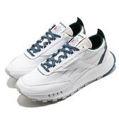 Reebok 休閒鞋 CL Legacy 白 藍 男鞋 女鞋 Classic Leather 運動鞋 【ACS】 FY7553