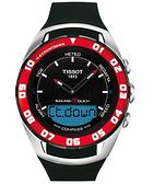 TISSOT 天梭 Sailing Touch 風帆專業觸控手錶-黑x紅框/45mm T0564202705100