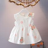 618好康鉅惠寶寶連身裙無袖夏裝百天新生兒韓版棉布裙子