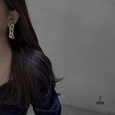 耳環女金屬質感長款夸張粗鏈條耳釘時尚百搭耳飾【愛物及屋】