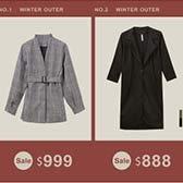 冬日必備經典外套 新品週限定價$999(不含特價品,不與其他折扣活動合併)