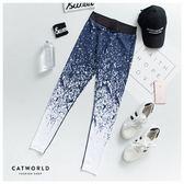 Catworld 幾何線條漸層彈力運動褲【12001704】‧S/M/L/XL