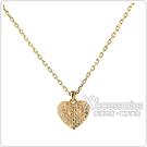 kate spade HEART TO HEART 黑桃LOGO愛心設計鑽鑲飾項鍊(金x白)