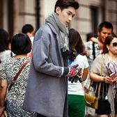 西裝外套-韓版寬鬆百搭時尚純色長版大衣72p28【巴黎精品】