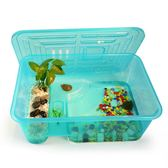 烏龜缸帶曬台小魚缸養烏龜專用缸塑料手提盆水陸缸 創想數位DF