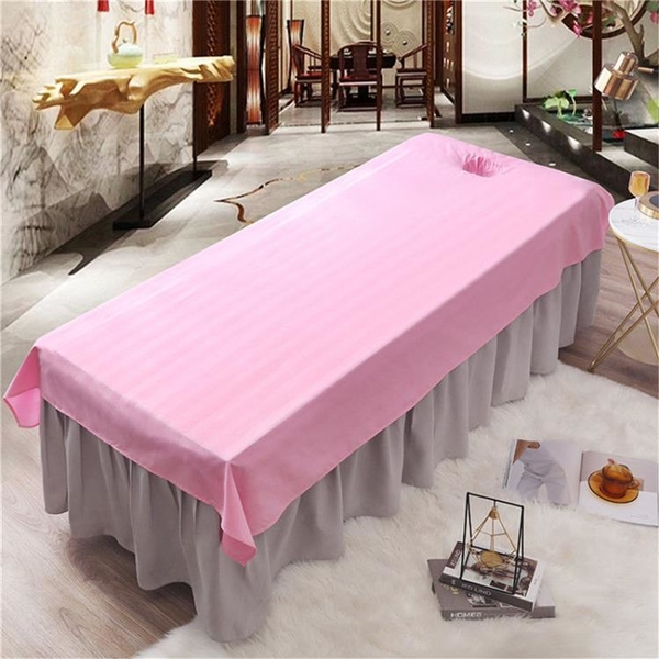 床罩 美容院專用美容理療洗頭床抗皺床單美容按摩床單推拿床單單件美體【快速出貨】