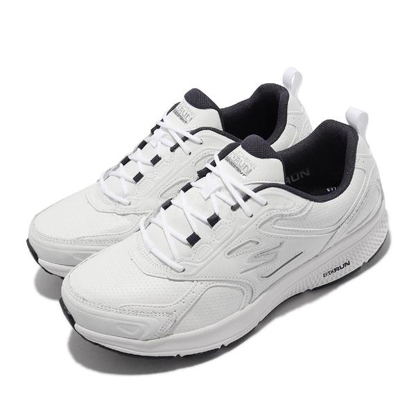 Skechers 慢跑鞋 Go Run Consistent Up Time 男鞋 全白 工作鞋 運動鞋【ACS】 220085-WNV
