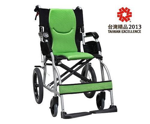 ✿✿✿【福健佳健康生活館】輪椅 康揚鋁合金輪椅旅弧KM-2501~超輕量型