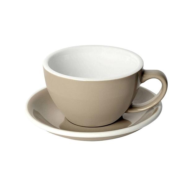 Loveramics Coffee Pro-Egg拿鐵咖啡杯盤組300ml(灰褐)