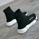襪靴 襪子鞋 女鞋 新款 高幫 彈力 運動短靴