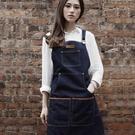 高端圍裙訂製LOGO店名牛仔圍裙 咖啡師烘焙美容美甲畫畫花藝紋身工作服 降價兩天