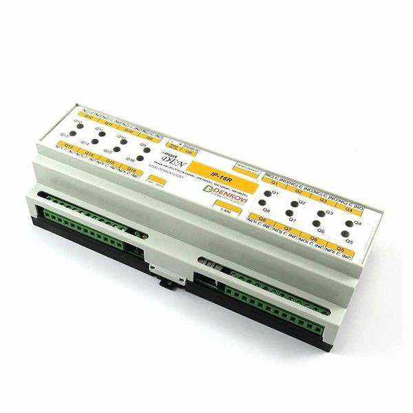 Denkovi smartDEN LAN Ethernet IP 16 Channels Web 中繼板 24VDC DIN導軌盒 [2美國直購]