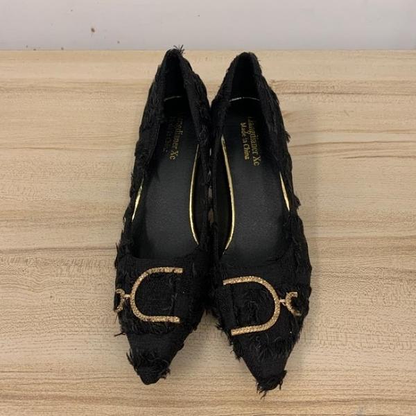 尖頭高跟鞋細跟性感工作鞋(24.5號/跟高7/121-6575)