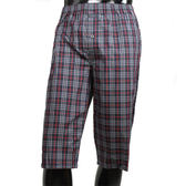 BURBERRY 經典大格紋棉質七分居家褲(深藍色)085012