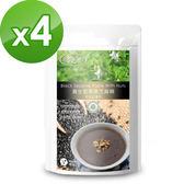 【樸優樂活】養生堅果黑芝麻糊-微糖(添加紅藻鈣)(400g/包)*4