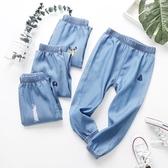 男童長褲 2020新款夏兒童裝褲子女童春裝款薄款褲男童天絲牛仔褲童裝褲【快速出貨】