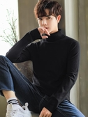 高領毛衣男韓版潮流純色男士針織打底衫外套時尚修身個性上衣服  免運快速出貨