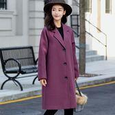 毛呢外套  新款韓版女士大碼毛呢外套中長款休閑潮呢子大衣
