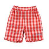 【愛的世界】純棉鬆緊帶紅格紋五分褲/4~8歲-中國製- ★春夏下著