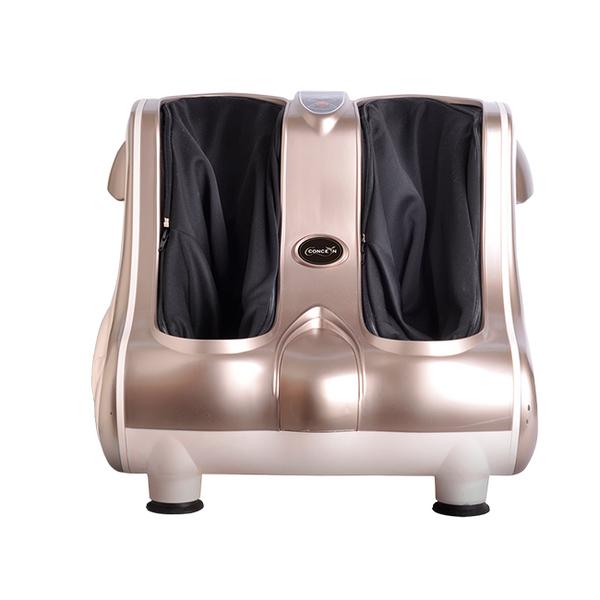 【Concern康生】時尚飛耀6D溫熱按摩腳機-閃耀金