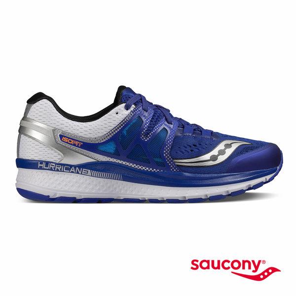 SAUCONY HURRICANE ISO 3 穩定支撐專業訓練鞋款-藍x白x銀