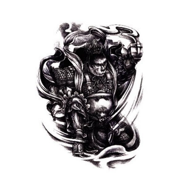 紋身貼 紋身貼紙 刺青貼紙 滿背 紋身 全甲 半甲 刺青 黑色 全身象形 圖騰 8068