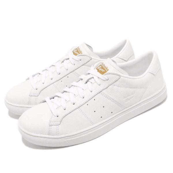 Asics 休閒鞋 Lawnship 2.0 白 全白 金標 皮革 低筒 休閒鞋 復古 運動鞋 男鞋 女鞋【PUMP306】 D715L-0101
