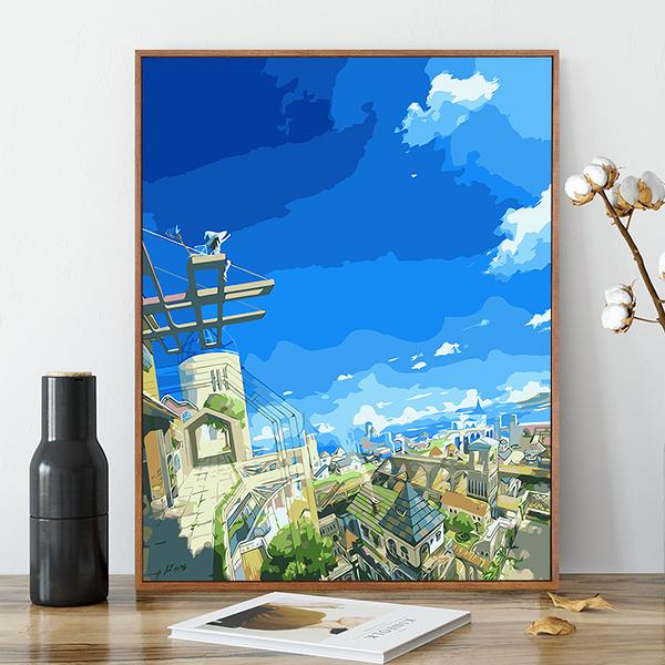 數字油畫diy油彩畫減壓手工動漫填色裝飾畫【雲木雜貨】
