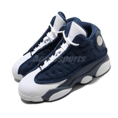 Nike Air Jordan 13 Retro PS Flint Grey 藍 白 童鞋 中童鞋 籃球鞋 喬丹 【PUMP306】 414575-404