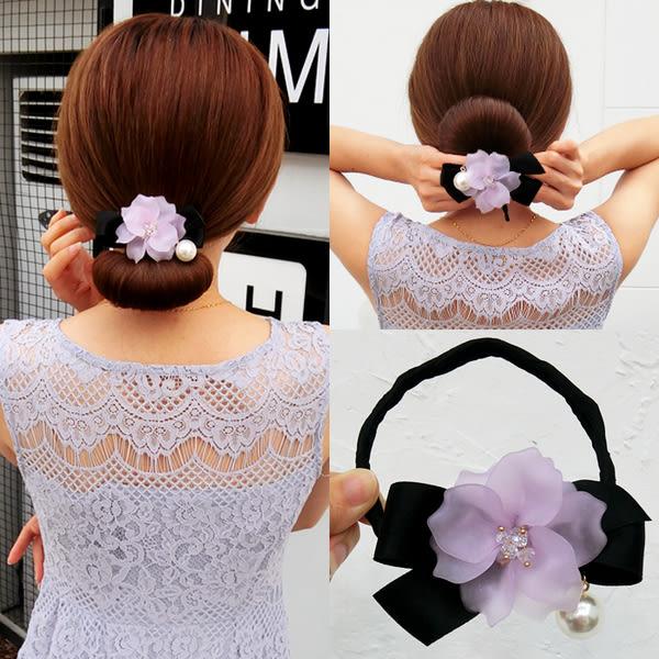 盤髮器 韓國新款盤髮器丸子頭花朵造型器百變蓬鬆花苞頭髮帶懶人頭飾