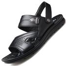 涼鞋 涼鞋男夏季休閒涼拖鞋男士真皮軟底兩用沙灘防滑皮涼鞋潮
